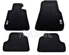 BMW M4 Series F82 Black Floor Mats With /// M Emblem Clip LHD Tailored NEW 2014+