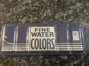 Vintage Milton Bradley Fine Water Colors Made In Springfield Massachusetts