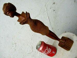 Cuban Art & Talent True Handmade Hand Carved Wood Beautiful Woman Sensual Pose