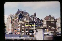 Rondvaart Amsterdam Netherlands People in early 1950's, Kodachrome Slide aa 9-9a