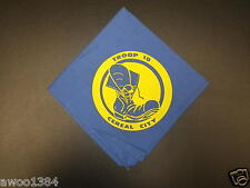 Vintage Troop 18 Cereal City Blue with Yellow Boot BSA Boy Scouts Neckerchief
