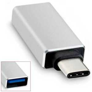 Adaptador USB Tipo C 3.1 OTG para Xiaomi Mi 9/8/6/6X/A2/A1/Max 3/Mix 3 Plateado