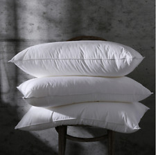 15% Goose Down Bed Pillows for Sleeping 100% Egyptian Cotton Queen Size