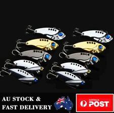 10 x Metal Vibe Blade Fishing Lure Switchblade Bream Flathead Spinner Spoon Bait