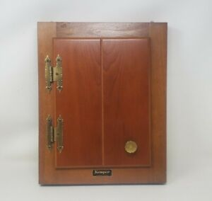 Vintage Wooden Key Holder Cabinet Wall Hanging Kemper Richmond Indiana Nice