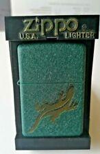 Green Crackle Gecko Zippo Lighter Mint In Box 2002