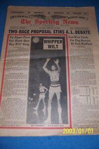 1966 Sporting News PHILADELPHIA 76ers WILT CHAMBERLAIN  No Label Free Shipping