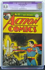 ACTION COMICS #72 CGC 8.0 Superman 1944 White pages