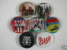 The Clash 7 Pins Buttons Badges Joe Strummer Z