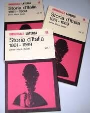 Smith STORIA D'ITALIA 1861-1969 3vol. Laterza UL 1979