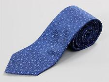 "Louis Vuitton NWT Blue White Circle Dot Monogram Tie 100% Silk Hand Made 3 1/8"""