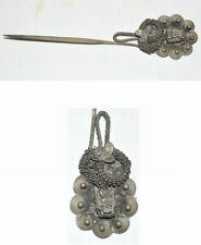 CHINA QING KINGDOM ETHNIC MINORITY TRADITIONAL SILVERING ACCESSORY HAIRPIN