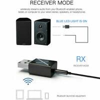 Car 2-in-1 Transmitter Receiver Wireless Audio USB FM 5.0 PC Bluetooth T8H1 T5U0