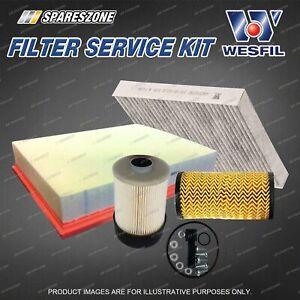 Wesfil Oil Air Fuel Cabin Filter Service Kit for Nissan Navara NP300 2.3L TD