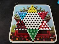 Vintage Chinese Checkers 1979 Pressman Steel Board incomplete SBCC