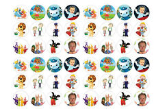 48  Cbeebies  Fairy Cake Toppers 30mm Printed on premium rice paper
