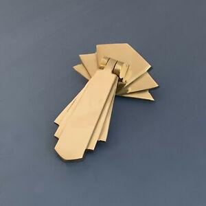 BRASS ART DECO DOOR OR DRAWER PULL DROP HANDLES CUPBOARD FURNITURE KNOBS
