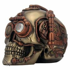 *NEMESIS NOW STEAMPUNK STEAM POWERED OBSERVATION SKULL FIGURINE ORNAMENT GIFT*