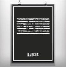 narcos Minimalist Minimal Film Movie Poster Print