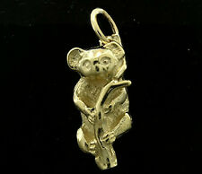 C018 Genuine 9K SOLID Yellow Gold Detailed Baby Koala Charm 3D with jumpring