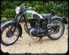 Bsa B31 02 A4 Metal Sign Motorbike Vintage Aged