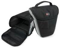 Black & Silver Case W/ Shoulder Strap for The Nikon D3400 Camera