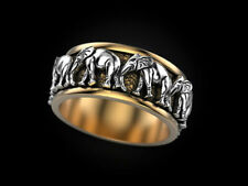 Men Jewelry Party Rings Size 11 Fashion Elephant 925 Silver Rings for