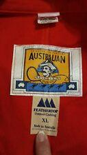 VINTAGE Australian STOCKMAN'S OILSKIN DUSTER RED Riding Jacket Coat XL WMS 2287