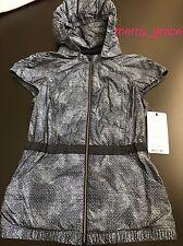 NWT $128 Lululemon Spring Fling Puffy Down Vest Run Hood Size 6 4 Blue