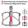 PROMEND Ultralight Aluminum Bicycle Pedal 3 Sealed Bearings MTB Road Bike Pedals
