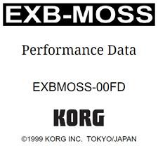 Korg EXB-MOSS Performance Data Factory - PRELOAD Data Floppy Disk EXBMOSS-00FD