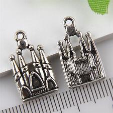 15Pcs Wholesale Zinc Alloy Castle Charms Pendants 20x11mm 1A1902