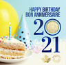 2021 Birthday Gift Card Set of 5 coins. SPECIAL $1 COIN ONLY COMES IN THIS SET