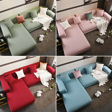 L Shape 1 2 3 4 Seater Stretch Sofa Cover Elastic Couch Armchair Cover Slipcover