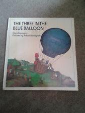The Three In The Blue Balloon by Hans Baumann HB book 1976 Antoni Boratynski