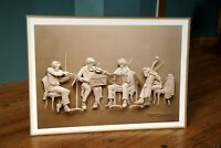Reinhard Rehearsal Lithograph Paper Sculpture Vintage Poster Art Print 1970s