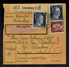 1944 Luxembourg Parcel Receipt Cover to Flossenburg Concentration Camp Germany