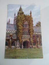A R QUINTON Postcard 1350 FOUNDER'S TOWER MAGDALEN COLLEGE OXFORD  §A2289