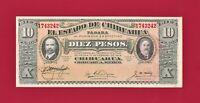 SCARCE ERROR MI-OP-REV MEXICO UNC 10 Pesos 1915 Chihuahua Note Series N (P-S535)