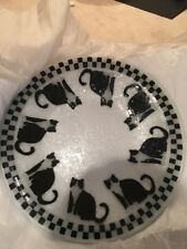 Hand Blown Hand Painted Large Cat Platter
