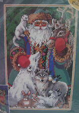 Bucilla Needlepoint Kit North Pole Santa Christmas Wool 60765