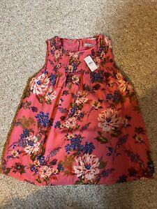NWT ~ Ann Taylor Loft - Pink Print Tank - SMALL - Retail $ 54.50