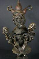 African Bronze MATERNITY statue - TIKAR tribe, Cameroon TRIBAL ART PRIMITIF