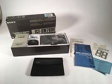 Sony ICF-SW7600 WORLD BAND RECEIVER.In Orig. Box + Service Manual. Needs Repair.