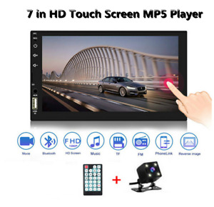 2 Din 7in Car Touch Screen Multimedia Bluetooth MP5 Player SD/FM/AUX/USB& Camera
