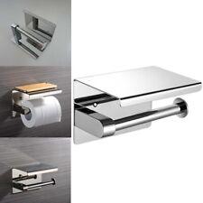 Porta Carte Igienica Stand Dispenser Montaggio a Parete Casa in Acciaio Inox