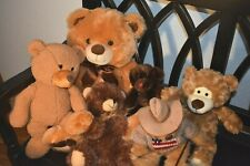 Lot of 6 Brown Teddy Bears by Various Makers (Big and Small)