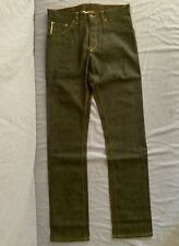 Raleigh Denim Workshop Jones Thin Fit Cone Mill Selvedge Denim Jeans Size 32