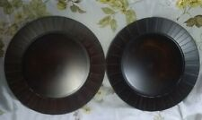 New listing Set of 2 ~ Pier 1 ~ Dark Brown and Mahogony Plastic Charger Plates