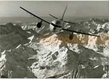 Airbus A300 Olympic Airlines flying over mountains - Photo Vintage 1980